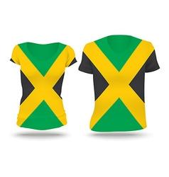 Flag shirt design of Jamaica vector