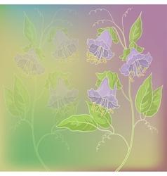 Flowers kobe vector image