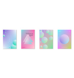 fluid poster set with round shapes vector image