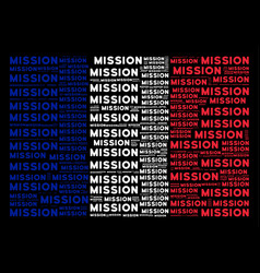 France flag mosaic of mission texts vector