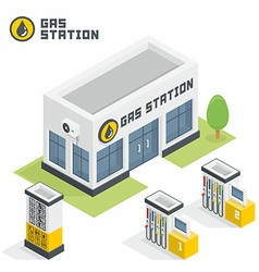 Gas station building vector