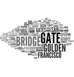 Gate word cloud concept vector