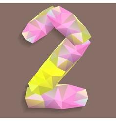 Geometric crystal digit 2 vector image