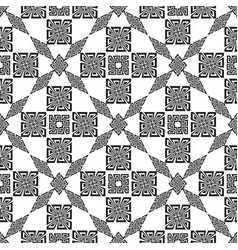 geometric modern ornamental black and white vector image