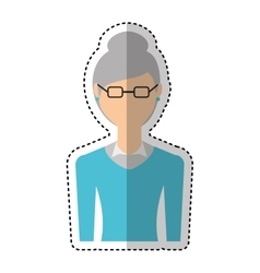 grandmother character isolated icon vector image