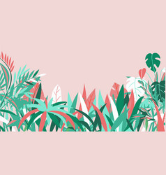 grass background various summer tropical plants vector image