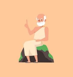 Greek or roman scientist philosopher vector