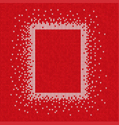 Handmade knitted seamless abstract background red vector