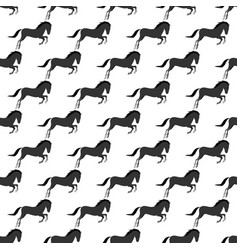 Horse pony stallion seamless pattern color farm vector