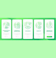 Intermittent fasting precaution green gradient vector