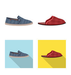 Isolated object of shoe and footwear logo set of vector