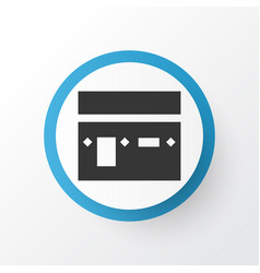 kaaba icon symbol premium quality isolated mecca vector image