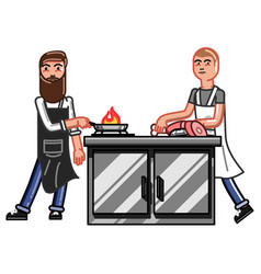 kitchen worker man vector image