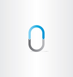 Letter o or number 0 vector
