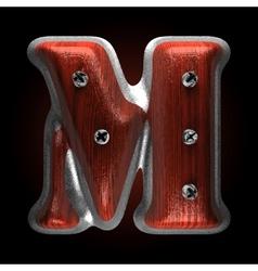 metal and wood figure m vector image