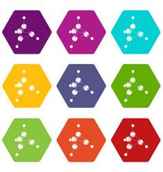 methanol icons set 9 vector image