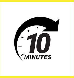 minute timer icons sign for ten minutes vector image