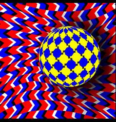 Optical 3d art rotation dynamic vector
