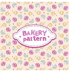 Pattern with sweets and pastries vector