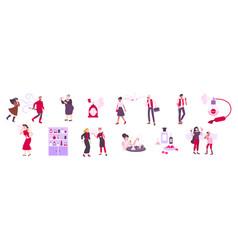 Perfume icons set vector