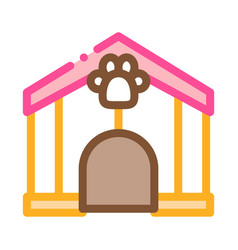 pet box icon outline vector image