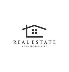 real estate company logo designs vector image
