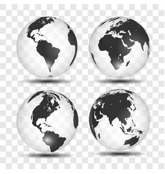 realistic world map in globe shape earth on vector image