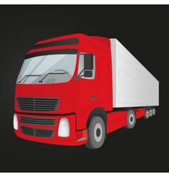 Red delivery truck - isolated vector image