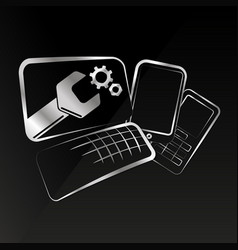 Repair of smartphones and computer equipment vector
