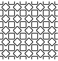 Repeating abstract monochrome rounded square vector