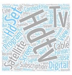 Satellite tv hdtv text background wordcloud vector