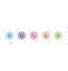 Seat icons vector