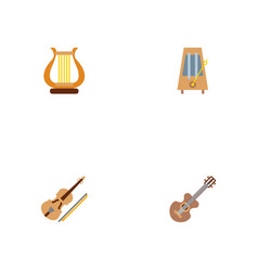 set of music icons flat style symbols with vector image