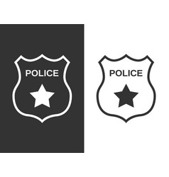 set police badge in flat style vector image