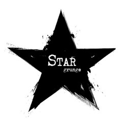 star shape grunge style vector image