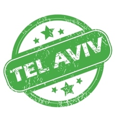 Tel Aviv green stamp vector