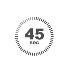 timer 45 sec icon simple design vector image