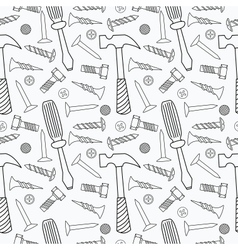 Tools seamless pattern vector image