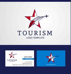 Travel switzerland flag creative star logo and vector