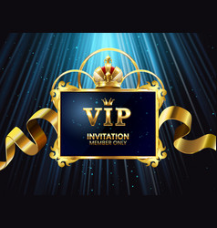 vip invitation card glamour celebration party vector image