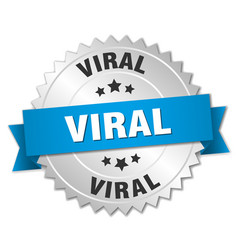 Viral round isolated silver badge vector