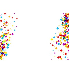 White background with color rhombs vector image