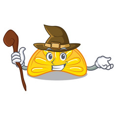 Witch orange jelly candy mascot cartoon vector