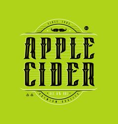 Apple cider logo in vintage style vector