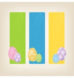 Banners with Easter Eggs vector image vector image