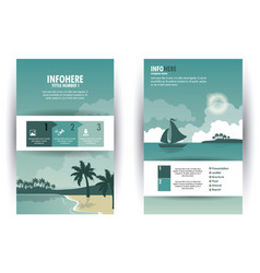 beach and travel brochure infographic vector image