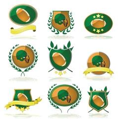 Football badges vector image