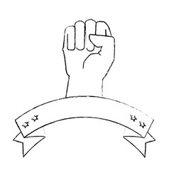 hand clenched symbol vector image