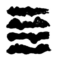 Hand drawn dirty brush strokes vector