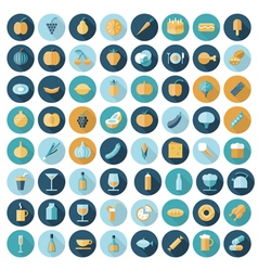 icons flat line all food vector image vector image